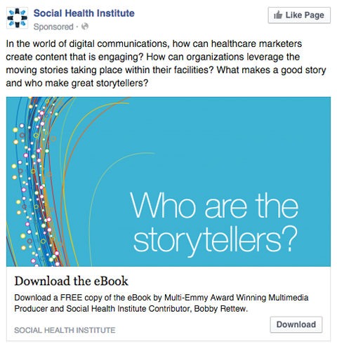 social health institute facebook ad
