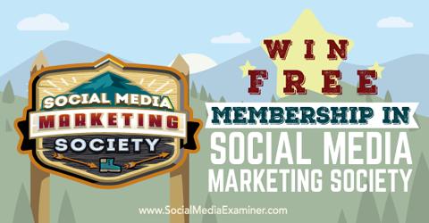 win a social media marketing society membership