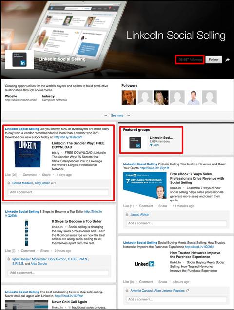 linkedin social selling linkedin showcase page