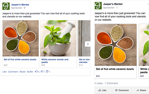 facebook carousel ad image example