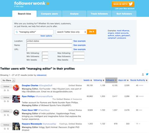 followerwonk bio search results