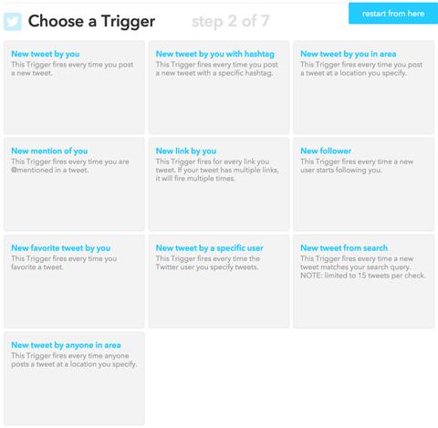 choosing an ifttt trigger