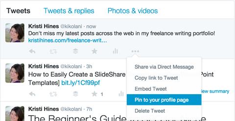 pinning a tweet example