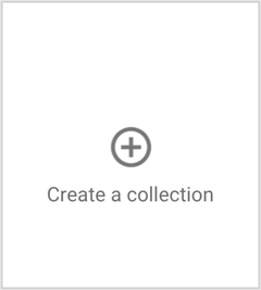 the create a google+ collection button