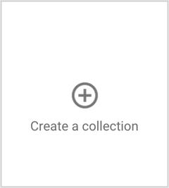 the create a google+ collection button