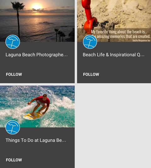 capri laguna google+ collections