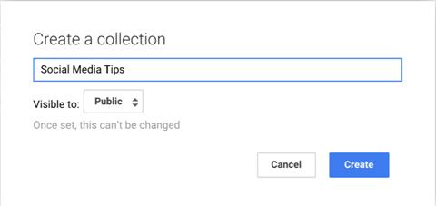 name google+ collection