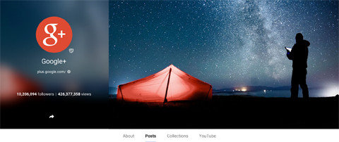 google+ cover and profile image example