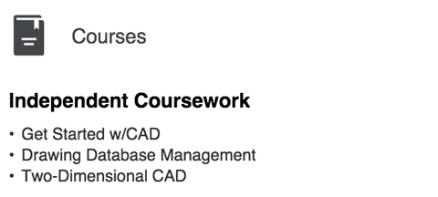 linkedin courses section
