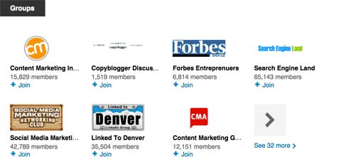 linkedin groups section