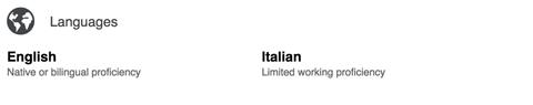 linkedin languages section