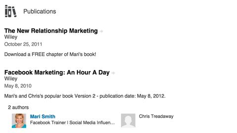 linkedin publications section