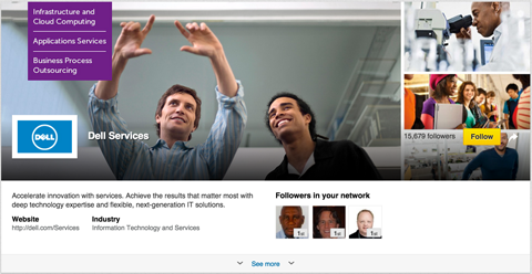 linkedin showcase hero image example