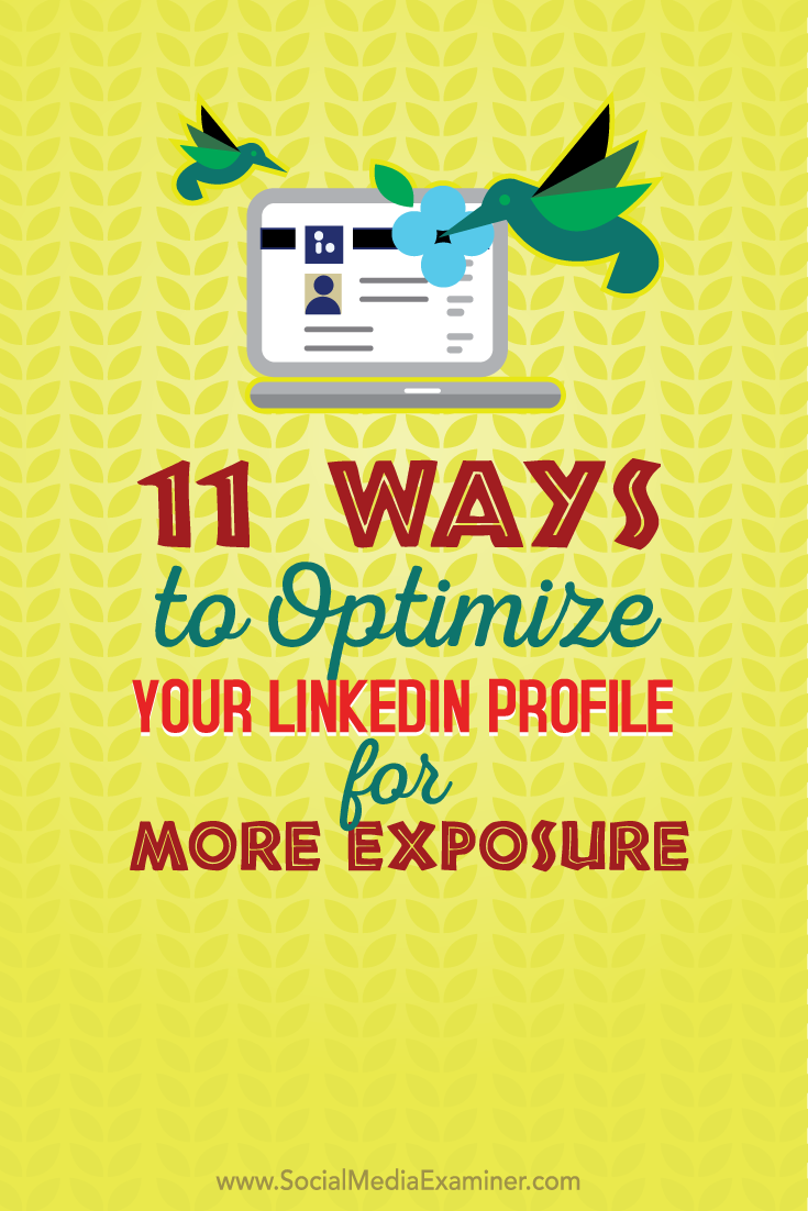 eleven ways to optimize linkedin for exposure