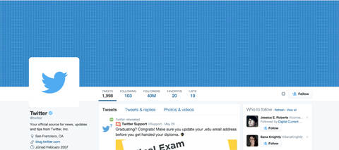 twitter header and profile image example