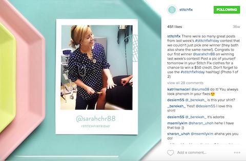 #stichfixfriday instagram post