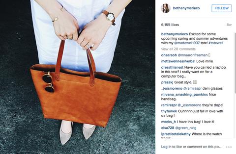madewell influencer instagram post