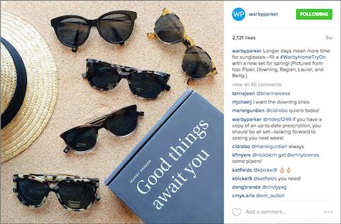 warby-parker instagram post