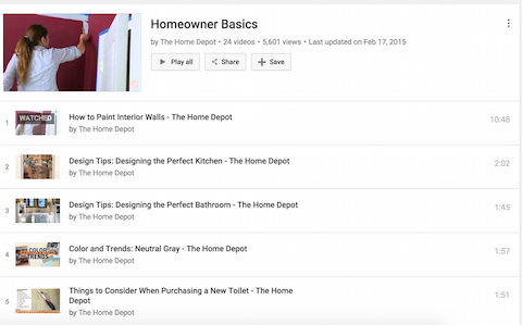 home depot how to youtube videos