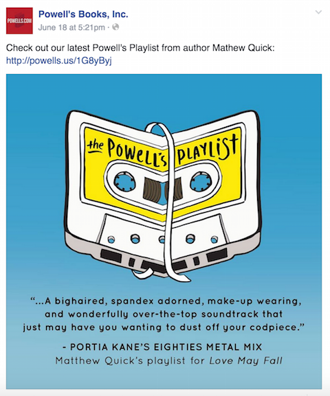 powell's books facebook post