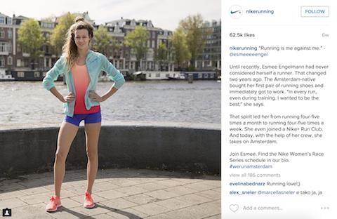 nike running instagram post