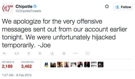 chipotletweets apology tweet