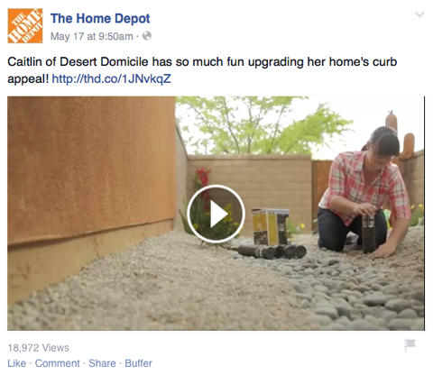 home depot video on facebook