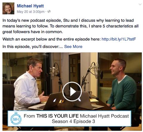 michael hyatt video post