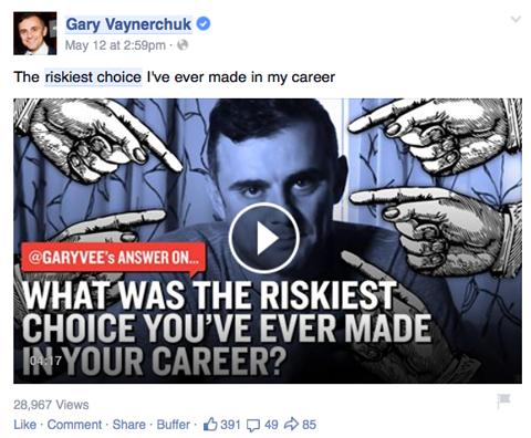 gary vaynerchuk video post on facebook