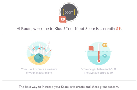 klout display
