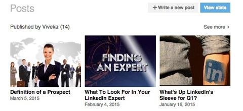 linkedin publisher posts