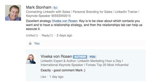 linkedin publisher post engagement response
