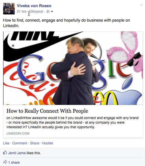 linkedin publisher post on facebook