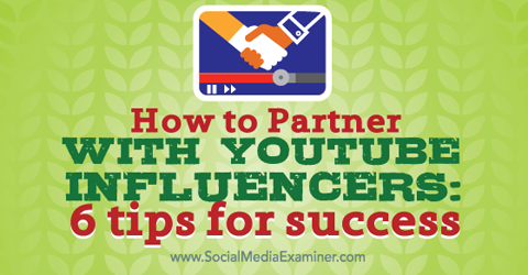 partner with youtube inflencers