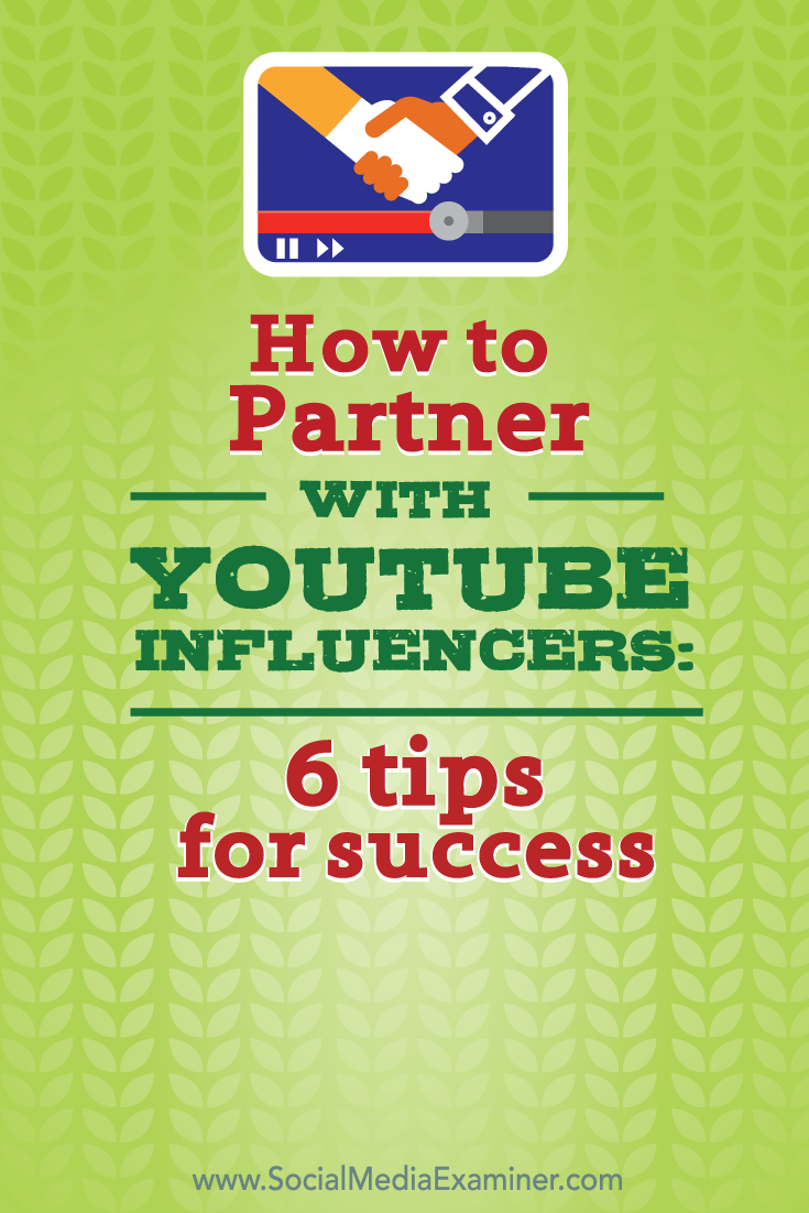 how to partner with youtube influencers