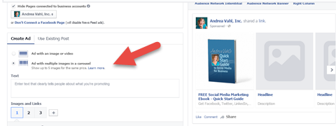 How To Create Facebook Ads That Stand Out Using Power Editor - Facebook carousel ads template