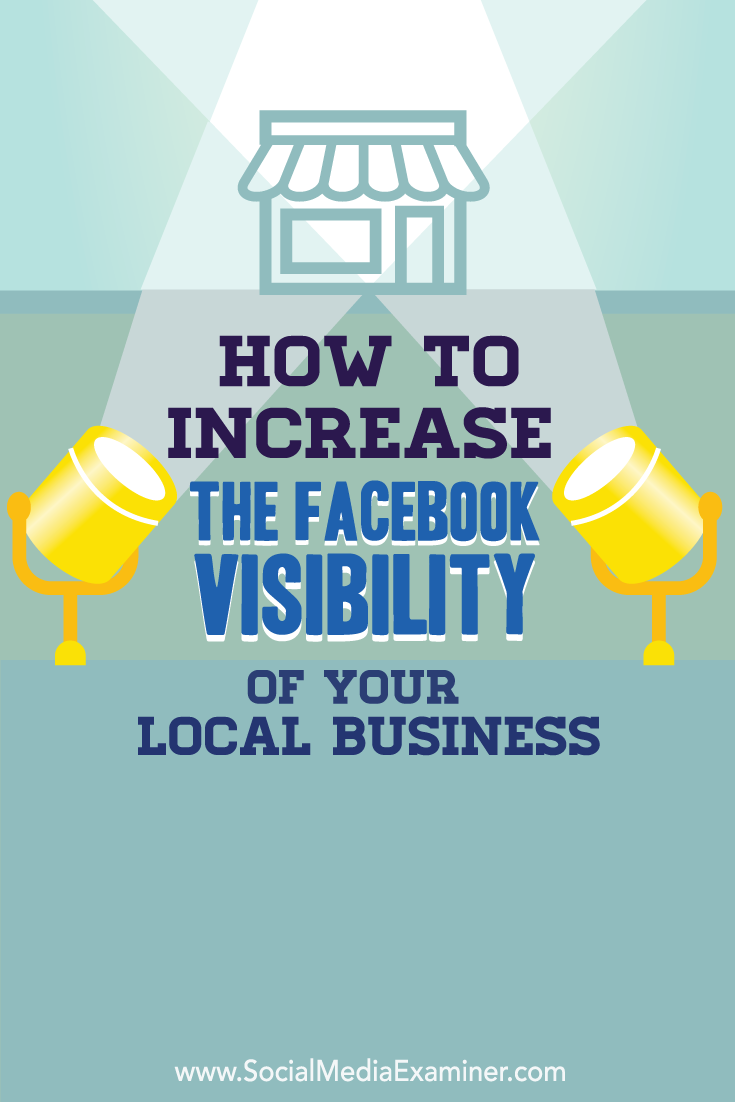 increase visibility for your local business on facebook