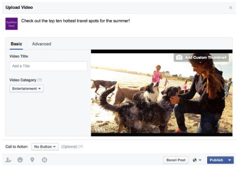 facebook video upload enchancements