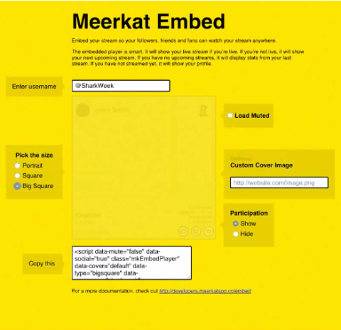 Meerkat Embeddable Player