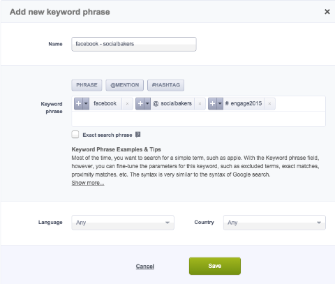 socialbakers builder tool