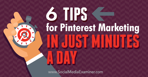 pinterest marketing in minutes