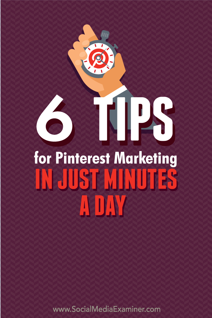 pinterest marketing in minutes a day