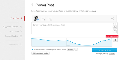 manageflitter powerpost feature