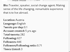 manageflitter user details