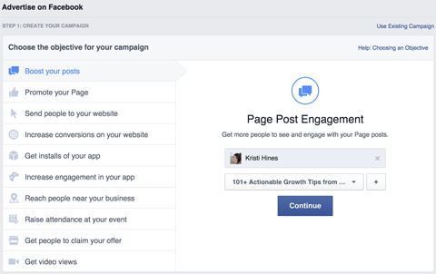 facebook ad boosting