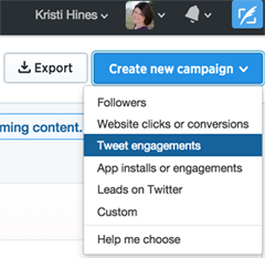 creating a promoted tweet campaign