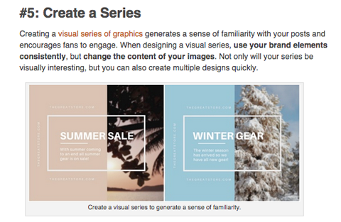 visual content tactic, create a series