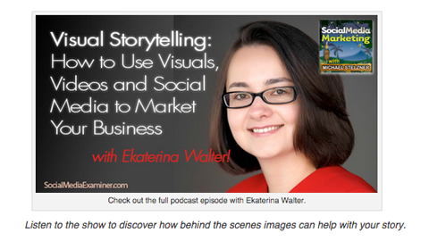visual content storytelling tips from ekaterina walter