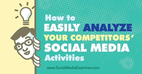 analyze competitors social media activities