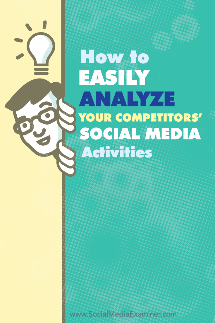 how to analyize competitors social media activities
